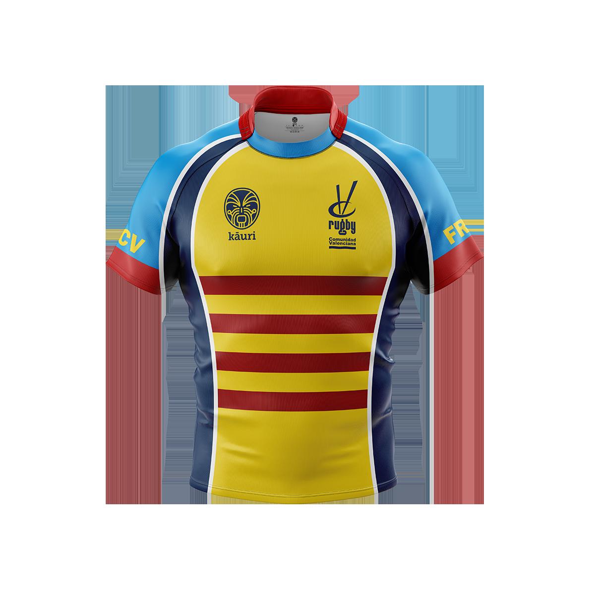 Camiseta FRCV (Federación Rugby Comunidad Valenciana) de juego - Kauri Sport 95d9050535a19